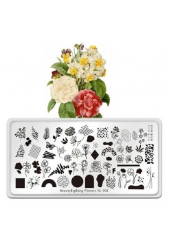 Пластина для стемпинга Beauty Big Bang Flowers XL-008